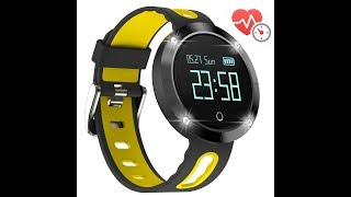 Arvin Fitness Tracker Heart Rate Watch SW36BY+AD+UK-1
