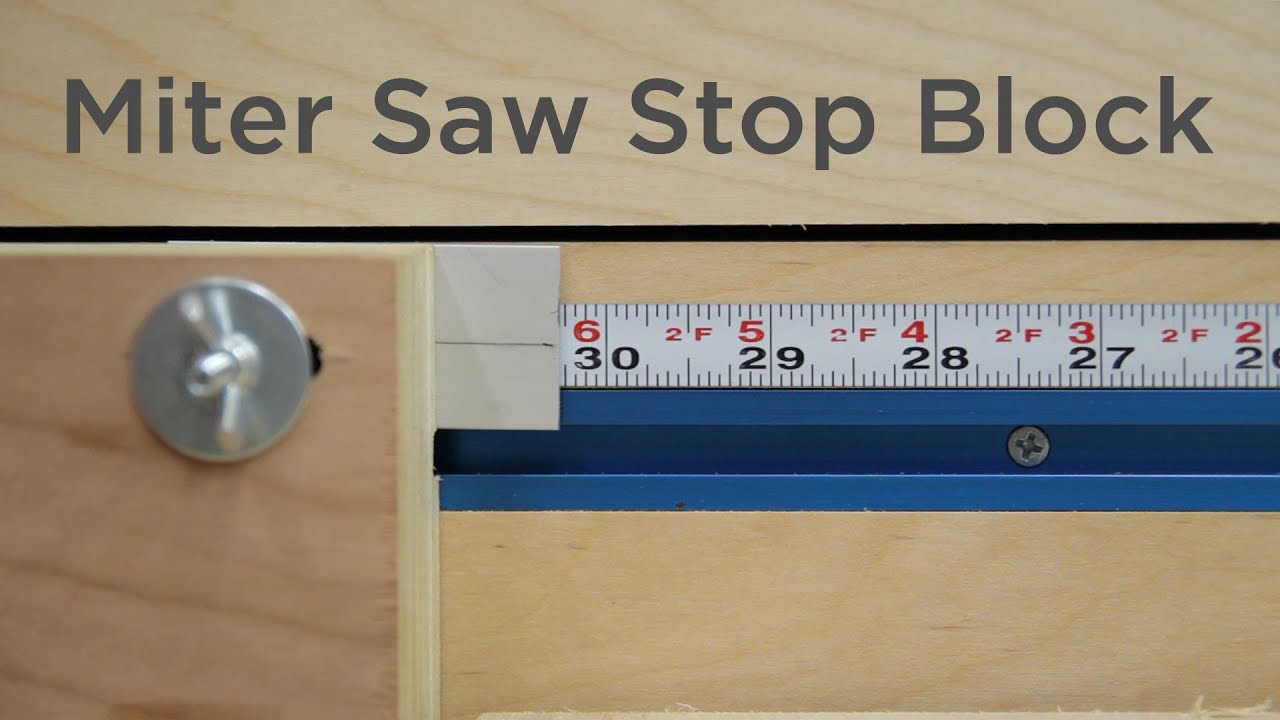 Super Easy Stop Block For A Miter Saw 197 Youtube