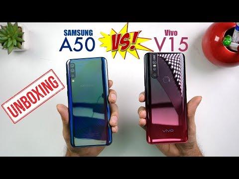 Vivo V15 vs Samsung Galaxy A50 Comparison:  Camera | Specs | Price | PUBG [Hindi]