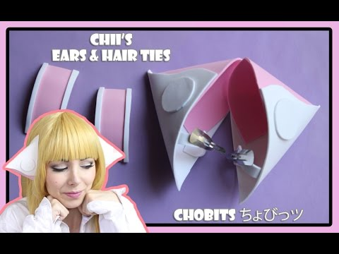 HOW TO MAKE CHII'S EARS AND HAIR TIES | CHOBITS | ちょびっツ COSPLAY TUTORIAL❤