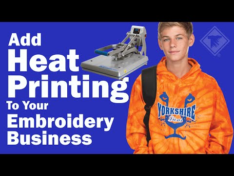 Add Heat Printing to Your Embroidery Business