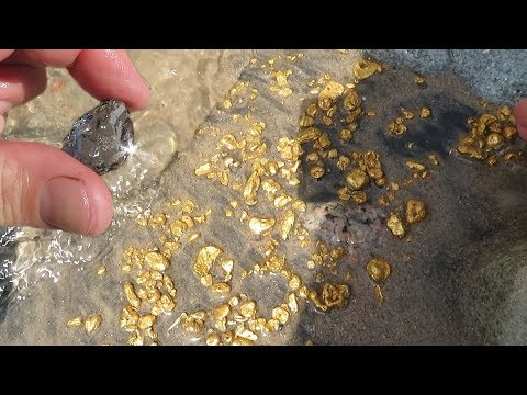 The richest placer of gold, it is a delight. Stones, nuggets and I guess diamonds?