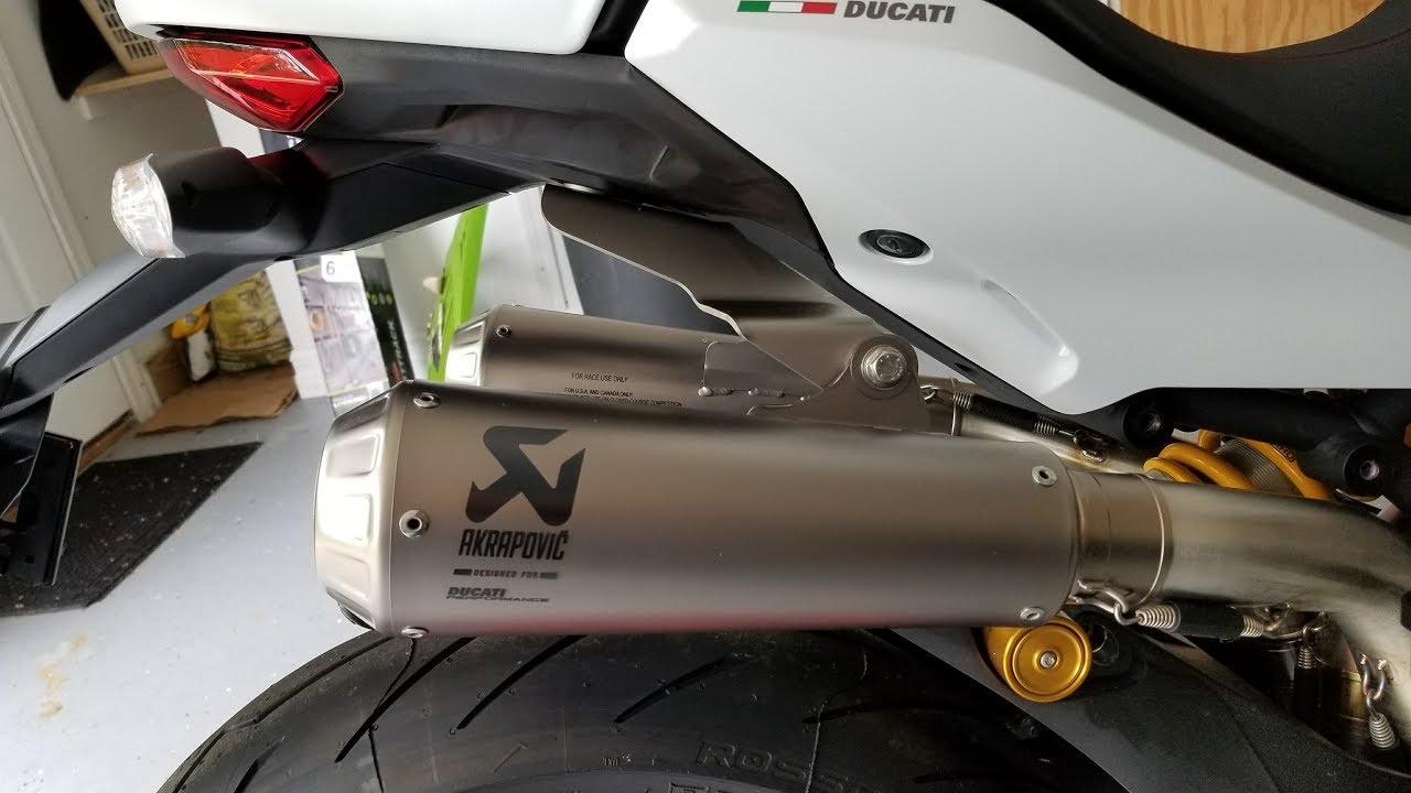 2017 ducati supersport s - akrapovic full system sound test - youtube
