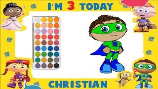 How To Draw Super Why! | Coloring Pages Super Why! |  Painting Super Why