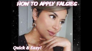 HOW TO APPLY FALSIES   #GLOWBYGG METHOD