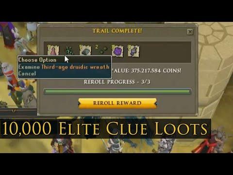 10,000 Elite Clue Loots - RuneScape Stream Highlight