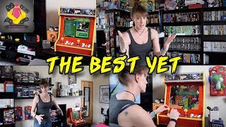 The NEW LADY LOUNGE GAMES ROOM TOUR \ PS4, PS3, Xbox, NES, SNES and more | Gaming Setup | TheGebs24