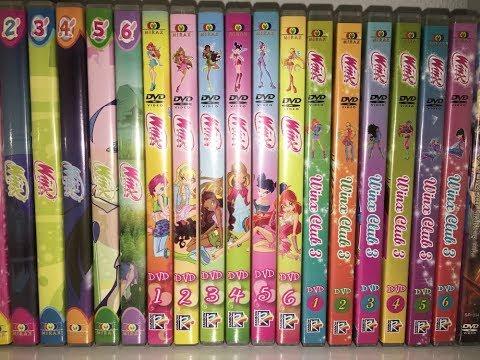 Winx Club Season 1 2 3 and Movie Complete DVD Set (Hungarian)