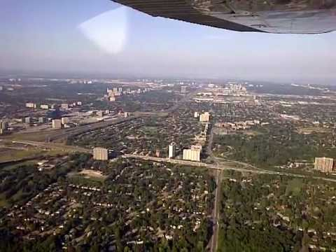 Take off from Buttonville airport in Markham Ontario