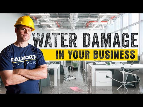 Water Damage In My Business | Water Restoration | Dalworth Restoration North Texas Restoration