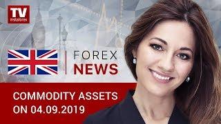 InstaForex tv news: 04.09.2019: Oil prices falling amid weak US PMI report (Brent, RUB/USD)