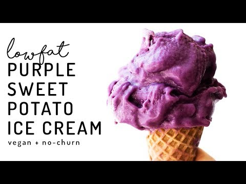 Purple Sweet Potato Ice Cream {vegan, no-churn, low-fat}