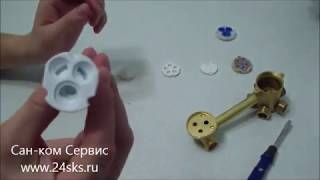 24СКС: Смеситель для душевой кабины(24sks.ru Познавательное видео для тех у кого есть душевая кабина или гидромассажная ванна, разборка смесителя..., 2014-12-22T02:48:02.000Z)