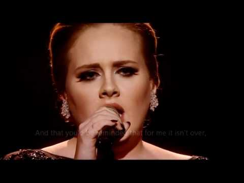 Best of Adele - Someone like you (OFFICIAL VIDEO LYRICS) HD Live from Brit Awards 2011.mp4 HQ
