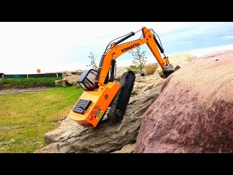 RC ADVENTURES - Rock Crawling a 1/12 Scale Earth Digger 4200XL Excavator