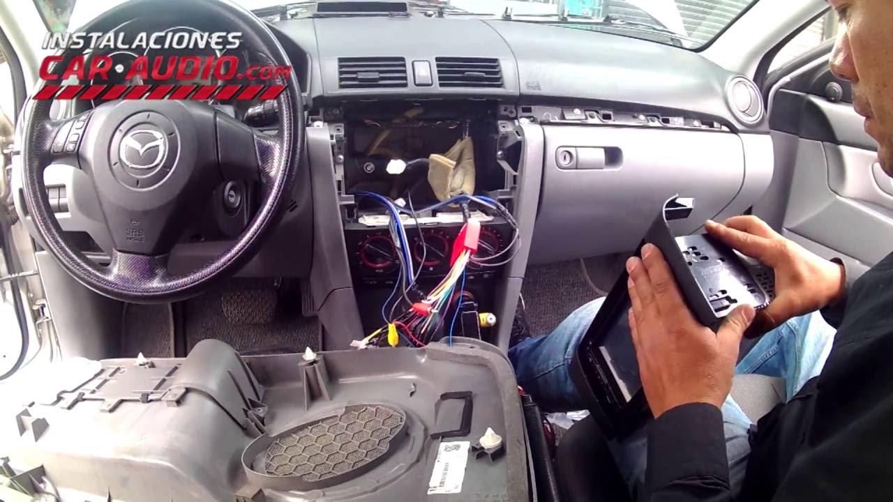Instalación radio Mazda 3 2008 mandos de timón ...