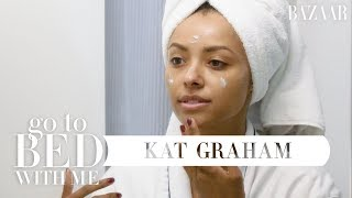 Kat Graham's Nighttime Skincare Routine | Go To Bed With Me | Harper's BAZAAR