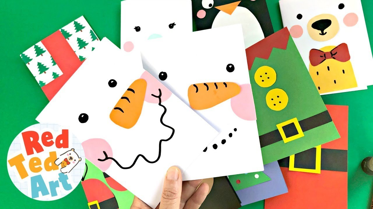 Super Simple Snowman Card Diy 5 Minute Card Making Ideas For Christmas Youtube