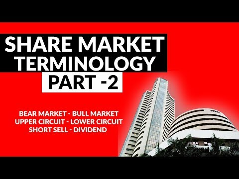 Start Investing In Share Market | Part  2 | Terminology | Bear Bull Market | Upper Lower Circuit