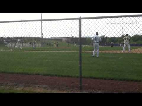 Brandon Ruffenach beats the DP ball in the fifth to tie the game 2-2 for Conestoga. #GTPAChesco