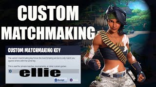 CUSTOM MATCHMAKING EU & NAE | FORTNITE LIVE | Girl Gamer | CODE IS IN CHAT