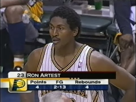 Ron Artest Vs 2004 Pistons 5 21 Shooting Blocked 7 Times 3 Offensive Fouls