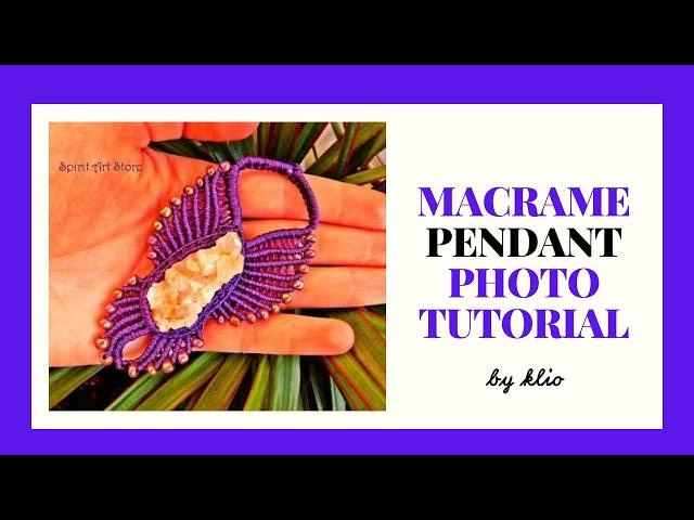 Phoenix Macrame Pendant~How I Made It #diy #macrametutorial