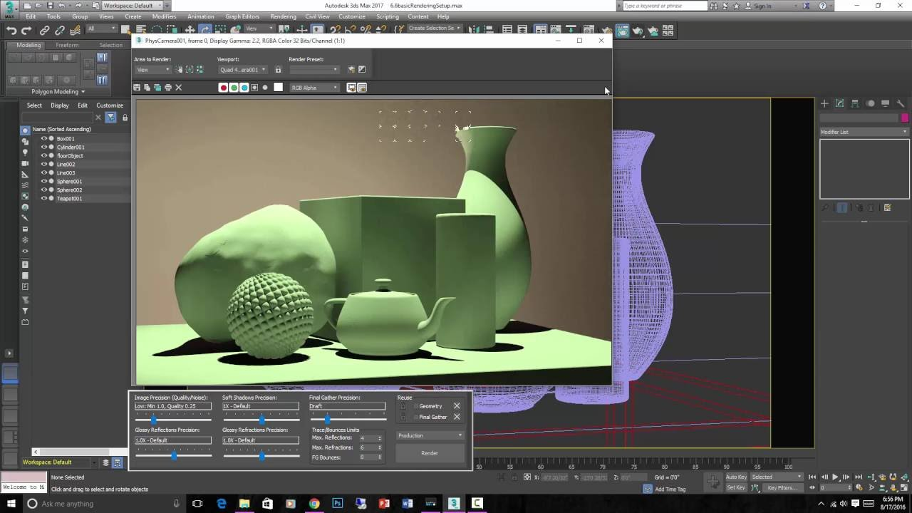 Tutorial introduction to 3ds max standard lights youtube - Materiale specchio 3ds max ...