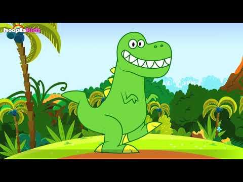 The Dancing Dinosaur | Dinosaur Song | HooplaKidz Nursery Rhymes and Kids Songs