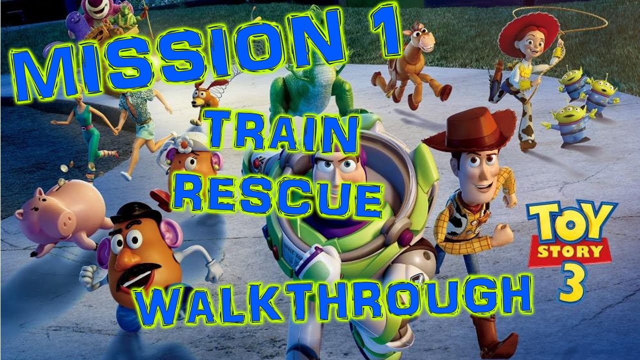 Toy Story 3 Train Games : Toy story the video game part train chase hd