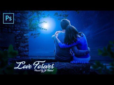 Photoshop CC Tutorial - Create a Romantic Night Photo effect