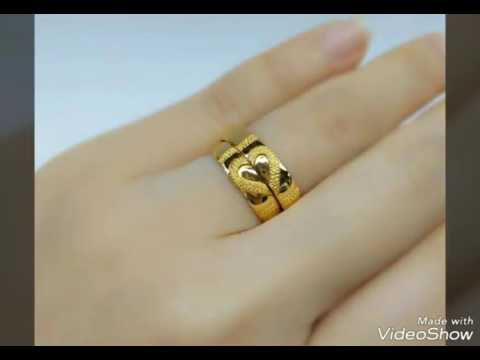 Light Weight Gold Finger Rings Round Ring Wedding Rings Daily Use