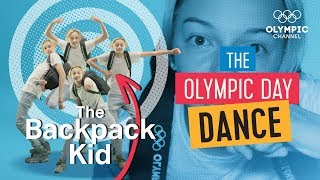 do the olympic day dance with the backpack kid and the olympic channel