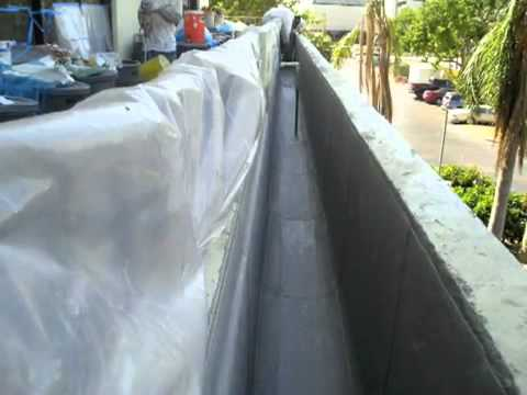 Planter Box Waterproofing With The Kemper System By The Aerial