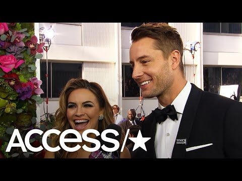 Justin Hartley & Chrishell Stause Gush About Walking The Globes' Carpet As Newlyweds  Access