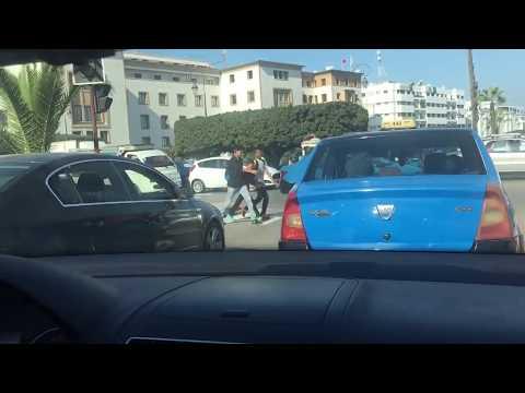 Driving around Rabat Morocco
