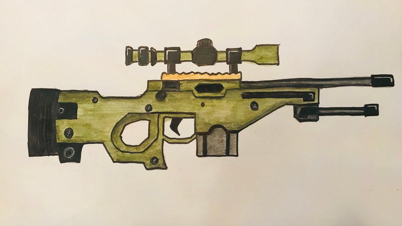 Cok Kolay Sniper Cizimi Youtube