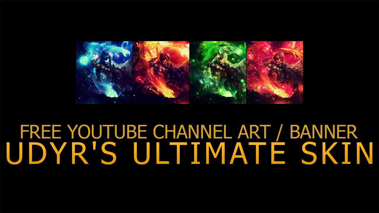 share youtube channel art banner udyrs ultimate skin