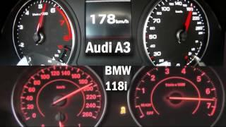 BMW F20 118i vs Audi A3 1.4 Tfsi acceleration