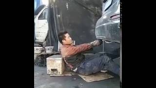 funny car mechanic in china