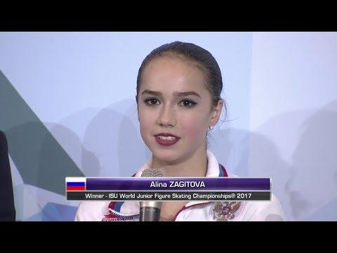 Alina Zagitova World Junior Champs 2017 FS Interview