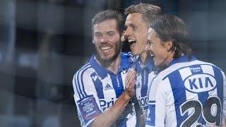 Sören efter segern mot Helsingborg
