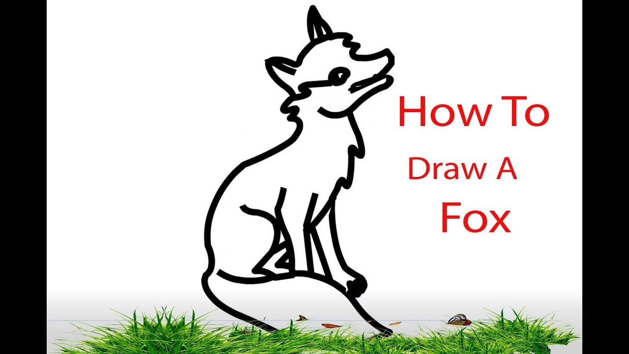 How to draw an arctic fox for kids how to draw a fox character for cartoon fox drawing tutorial