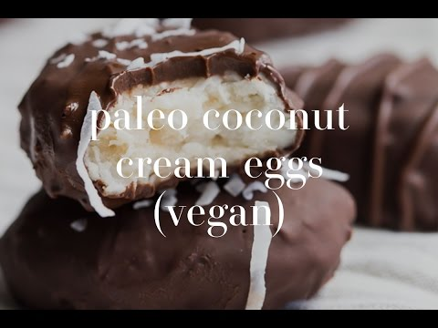 Paleo Coconut Easter Eggs (Vegan, Gluten Free)