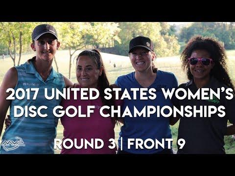 2017 US Women's Disc Golf Championships - Rnd 3 | Front 9 - Hokom, Van Dyken, Jenkins, Cox