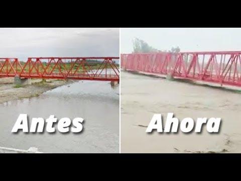 Así se desbordan los ríos en Tucumán y hay alerta de inundaciones