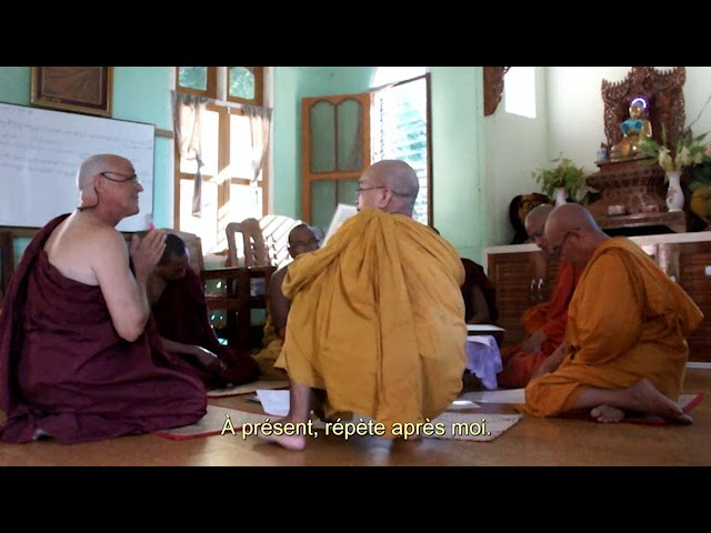 Mon ordination de moine bouddhiste théravada