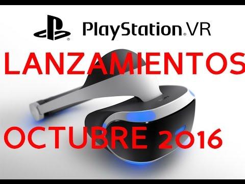 LANZAMIENTOS OCTUBRE 2016   PS VR    PS4  XBOX ONE   PC
