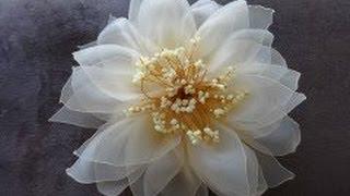 Цветок из органзы (Мастер класс)/Organza Flower/