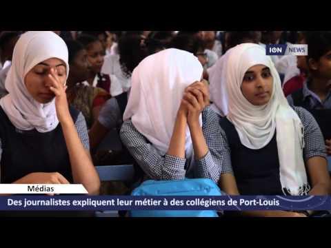 Des journalistes expliquent leur métier à des collégiens de Port-Louis